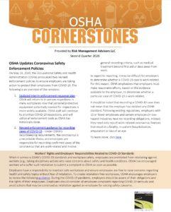 OSHA Safety Cornerstones Q2 2020